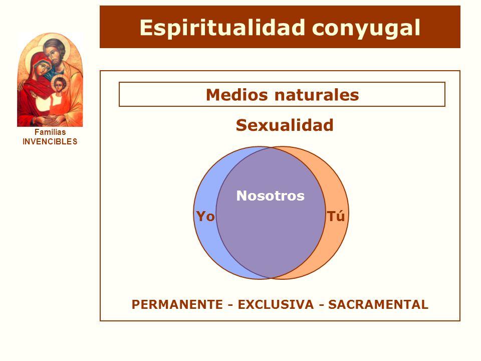 Espiritualidad conyugal PERMANENTE - EXCLUSIVA - SACRAMENTAL