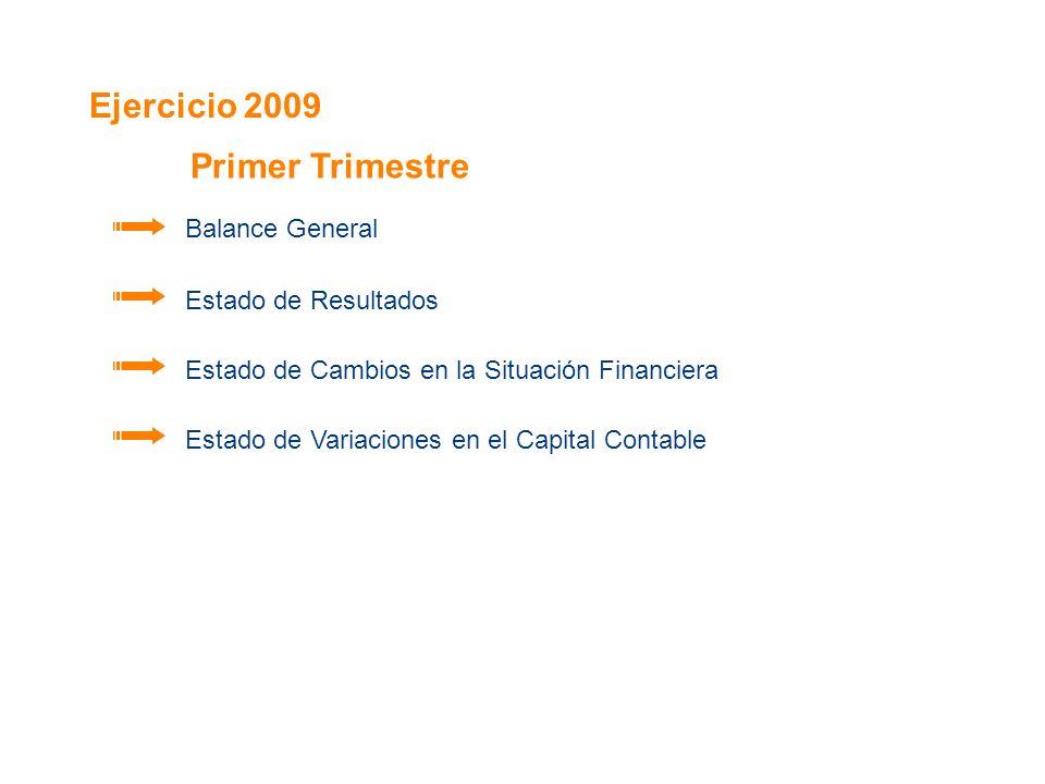 Ejercicio 2009 Primer Trimestre Balance General Estado de Resultados