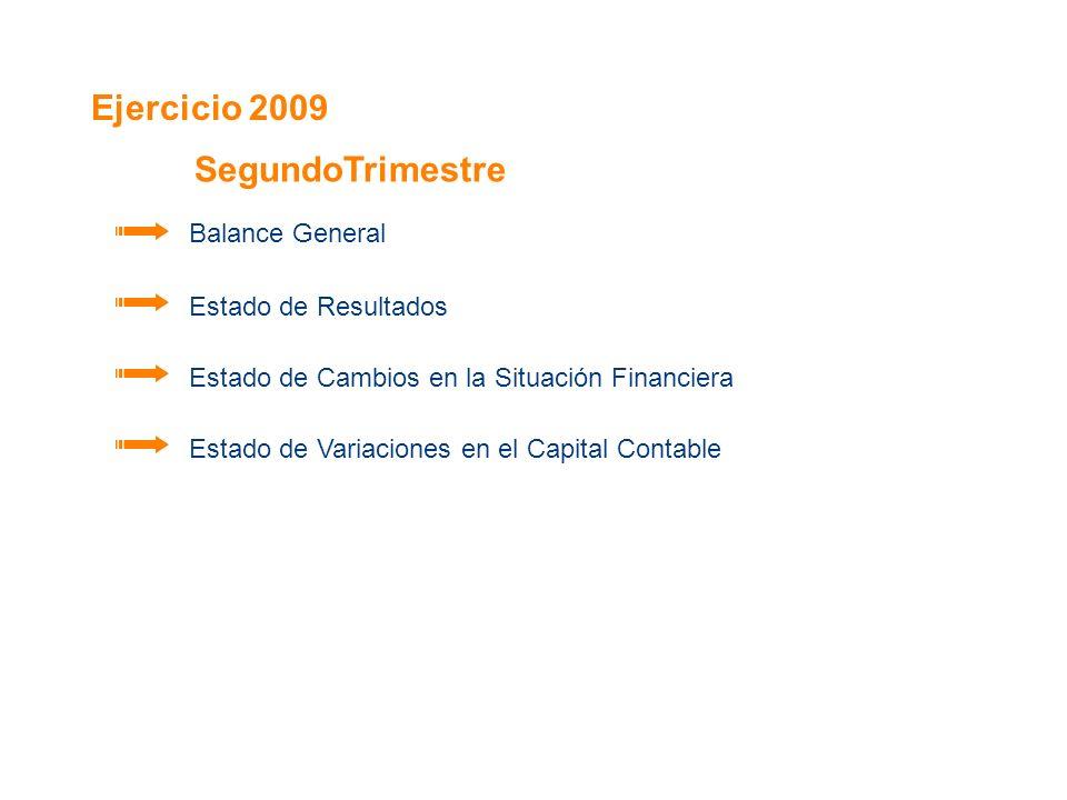 Ejercicio 2009 SegundoTrimestre Balance General Estado de Resultados