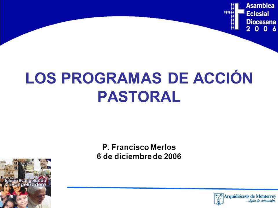 LOS PROGRAMAS DE ACCIÓN PASTORAL