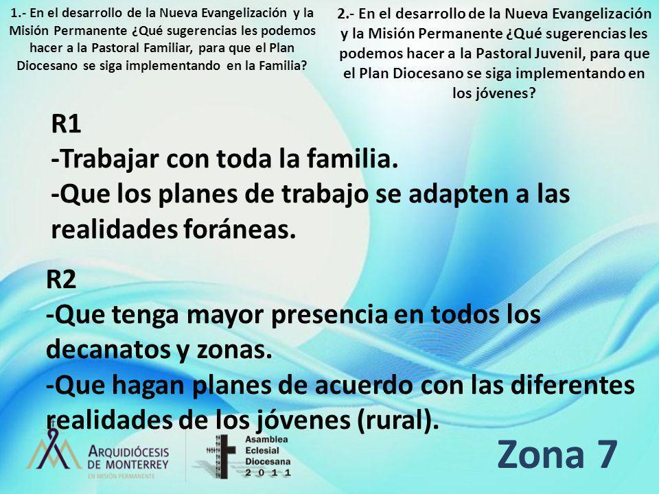 Zona 7 R1 -Trabajar con toda la familia.