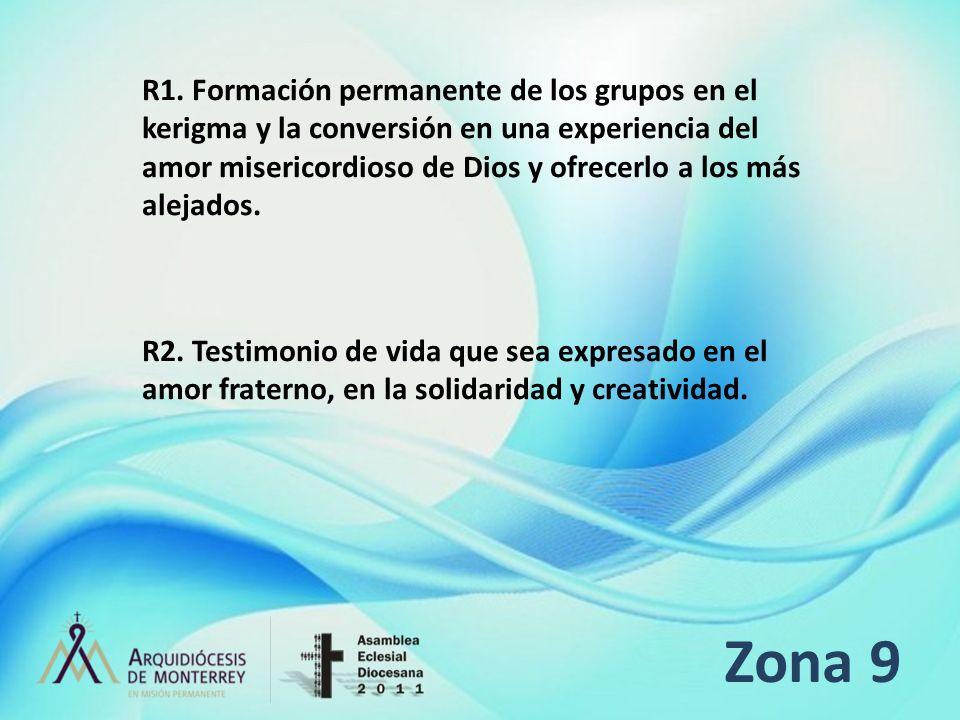 R1. Formación permanente de los grupos en el kerigma y la conversión en una experiencia del amor misericordioso de Dios y ofrecerlo a los más alejados.