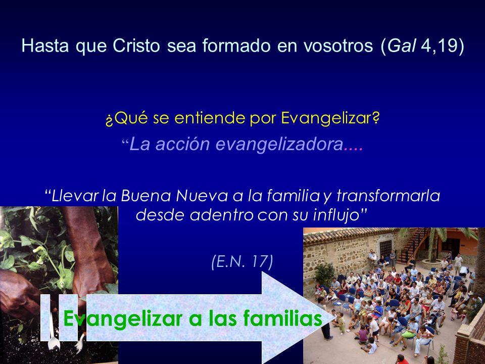 Evangelizar a las familias
