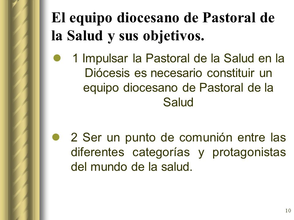 El equipo diocesano de Pastoral de la Salud y sus objetivos.