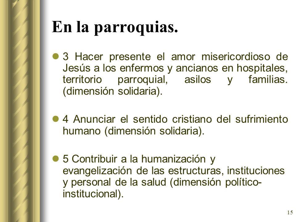 En la parroquias.