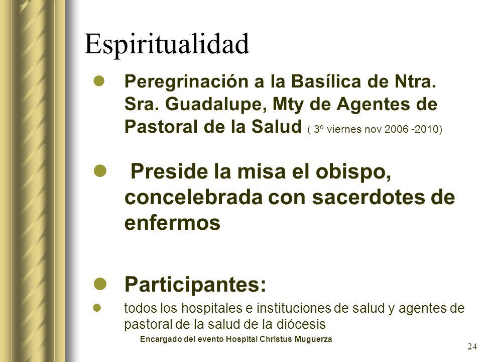 EspiritualidadPeregrinación a la Basílica de Ntra. Sra. Guadalupe, Mty de Agentes de Pastoral de la Salud ( 3º viernes nov 2006 -2010)