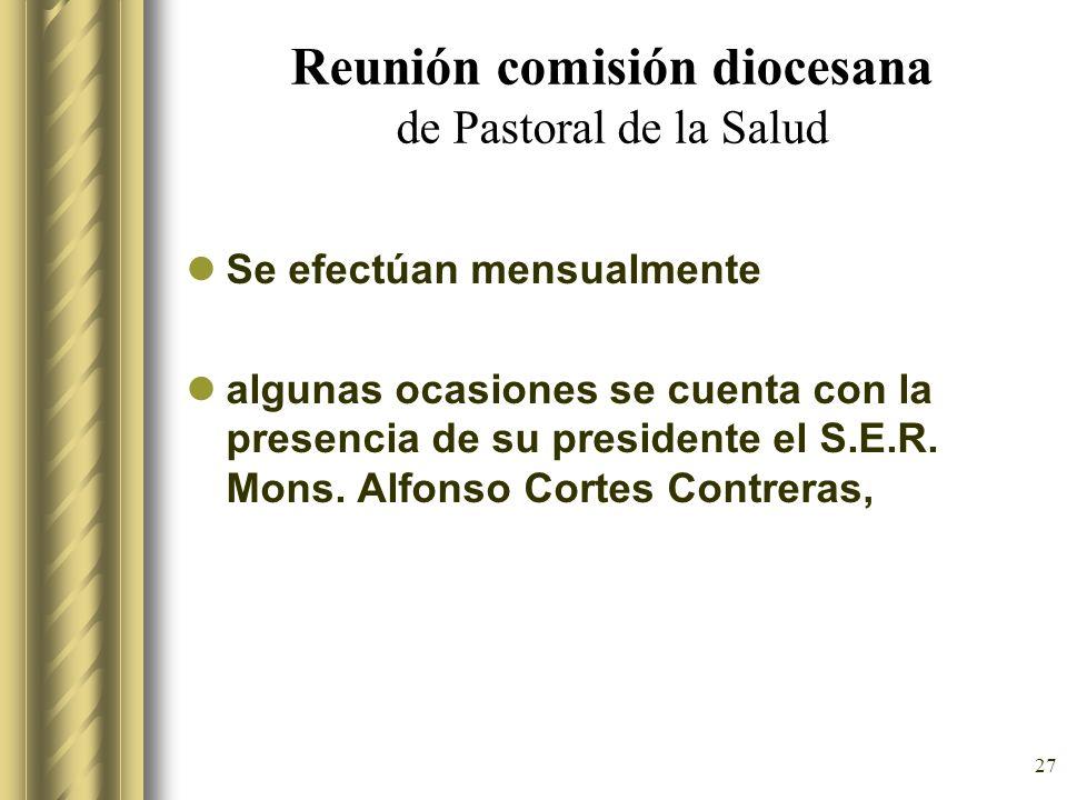 Reunión comisión diocesana de Pastoral de la Salud