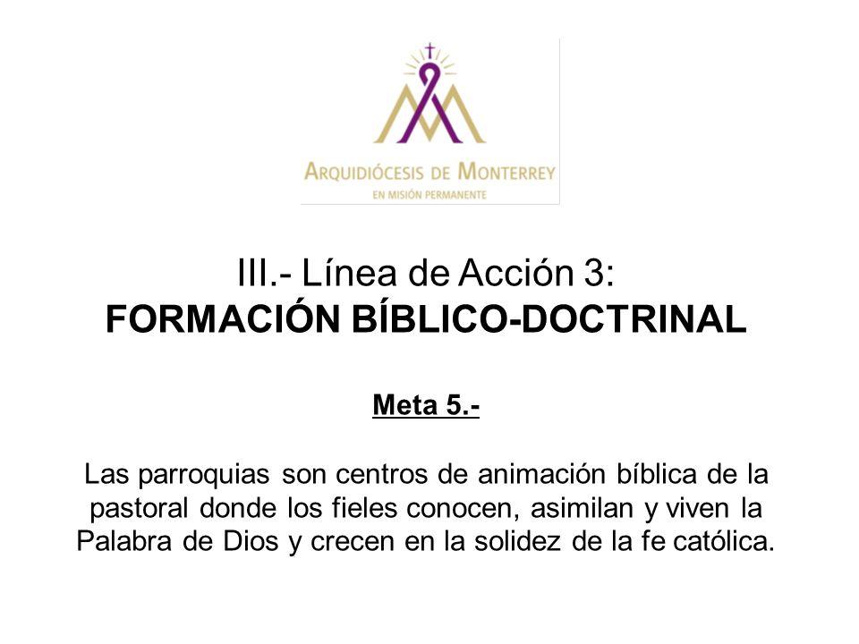 FORMACIÓN BÍBLICO-DOCTRINAL