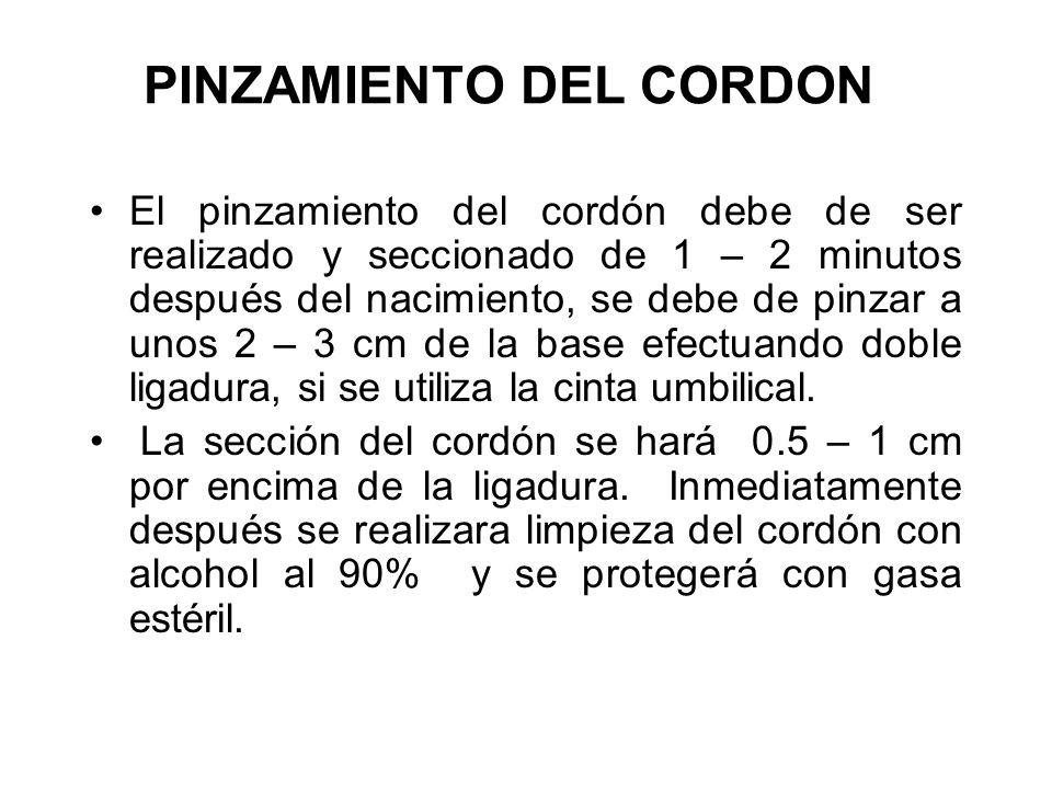 PINZAMIENTO DEL CORDON