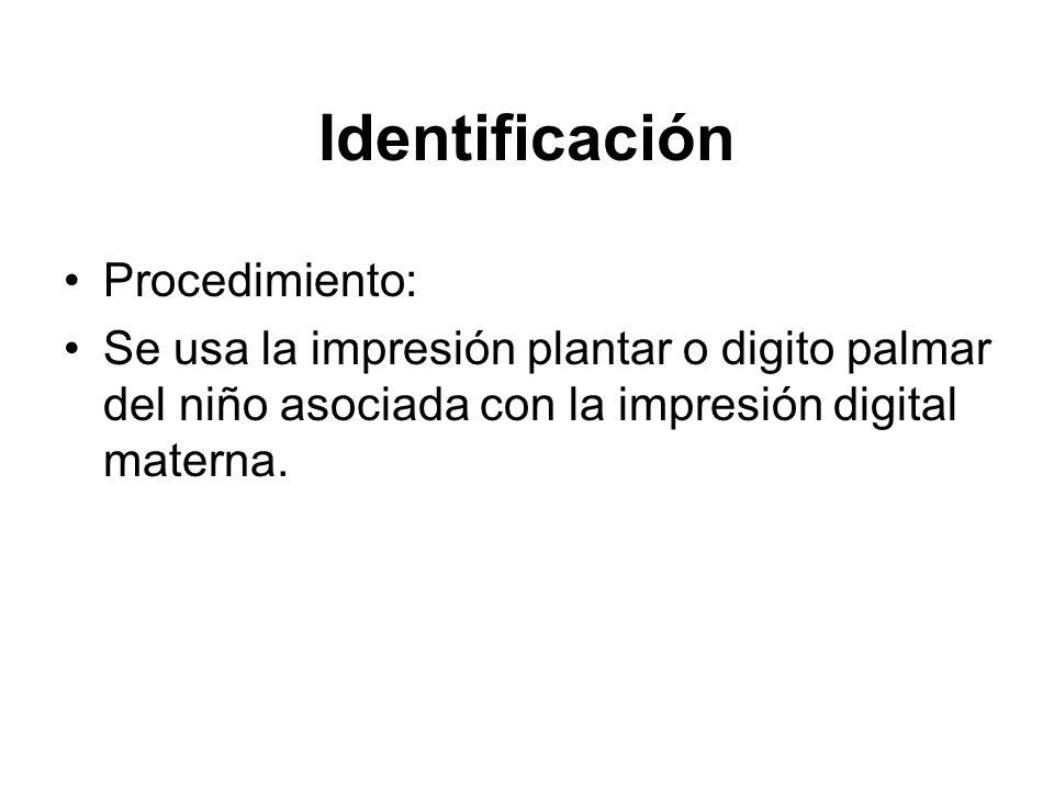 Identificación Procedimiento: