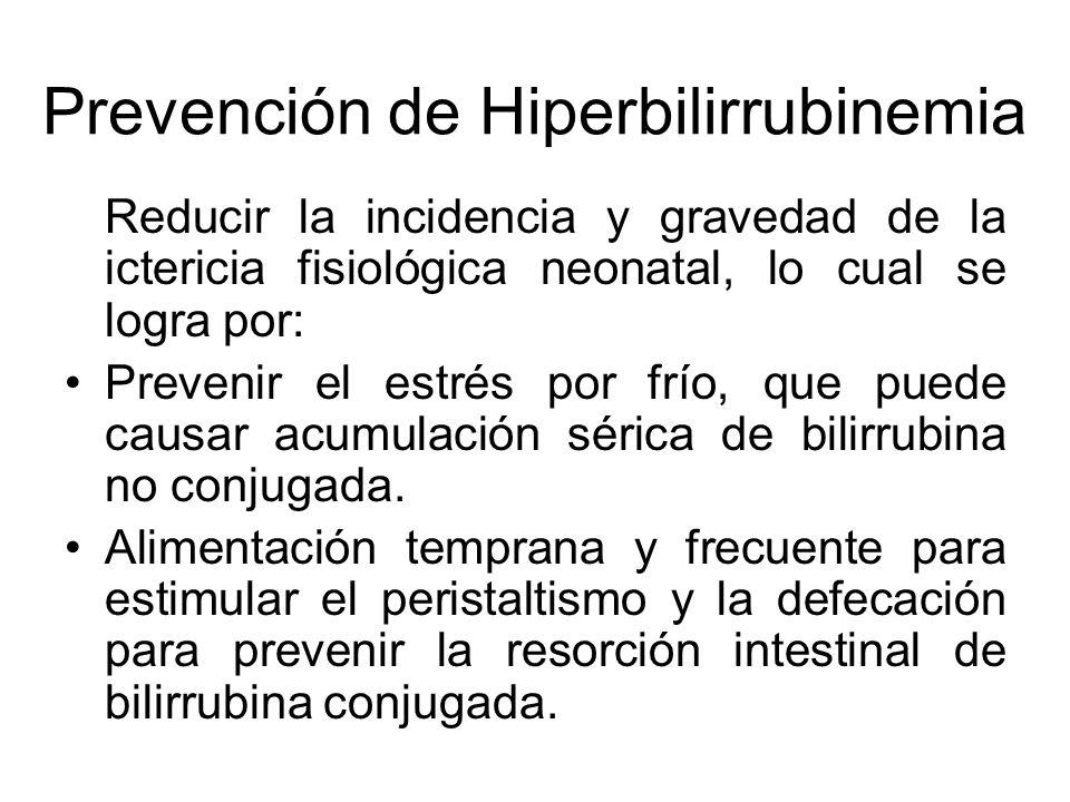 Prevención de Hiperbilirrubinemia
