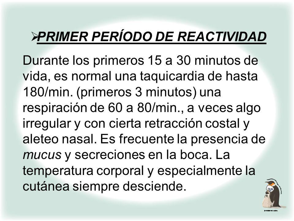 PRIMER PERÍODO DE REACTIVIDAD