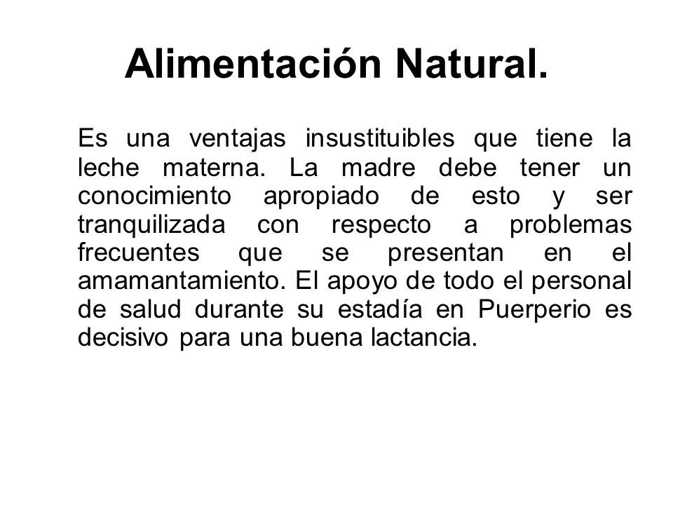 Alimentación Natural.