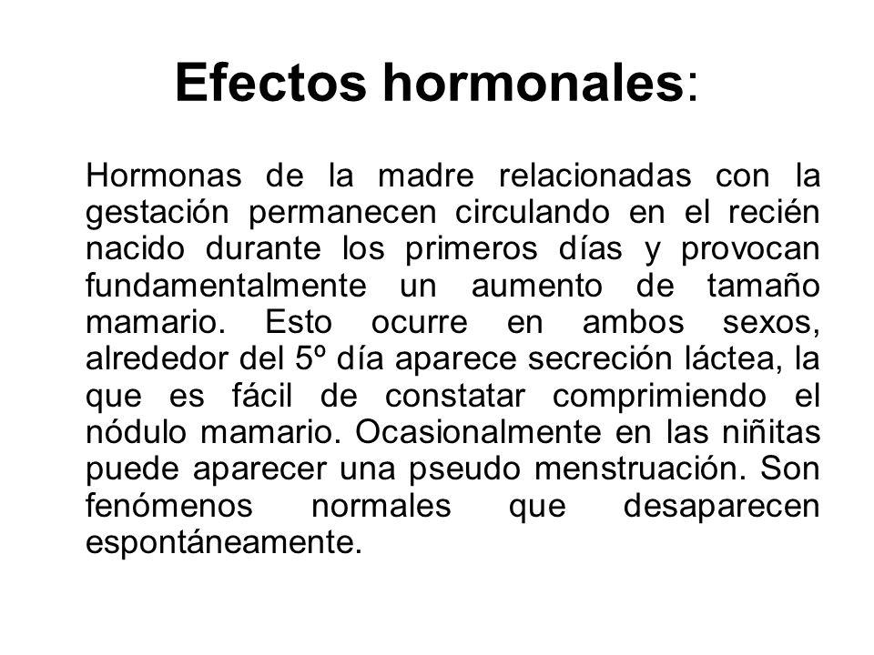 Efectos hormonales: