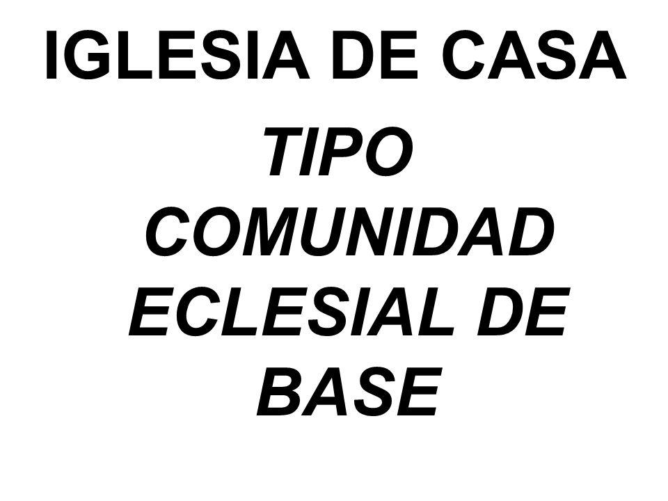 IGLESIA DE CASA TIPO COMUNIDAD ECLESIAL DE BASE