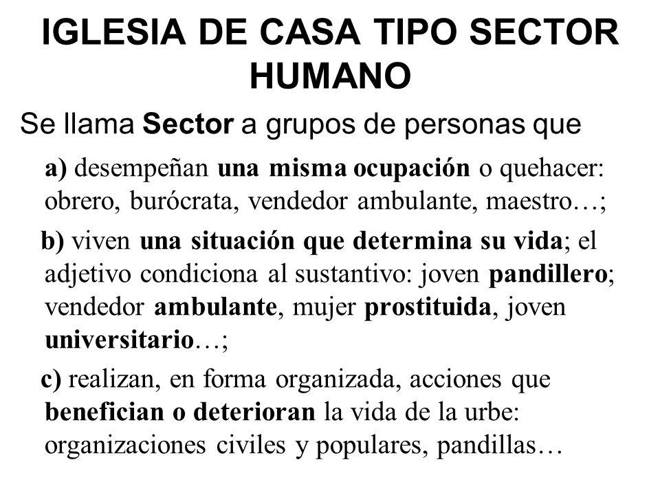 IGLESIA DE CASA TIPO SECTOR HUMANO