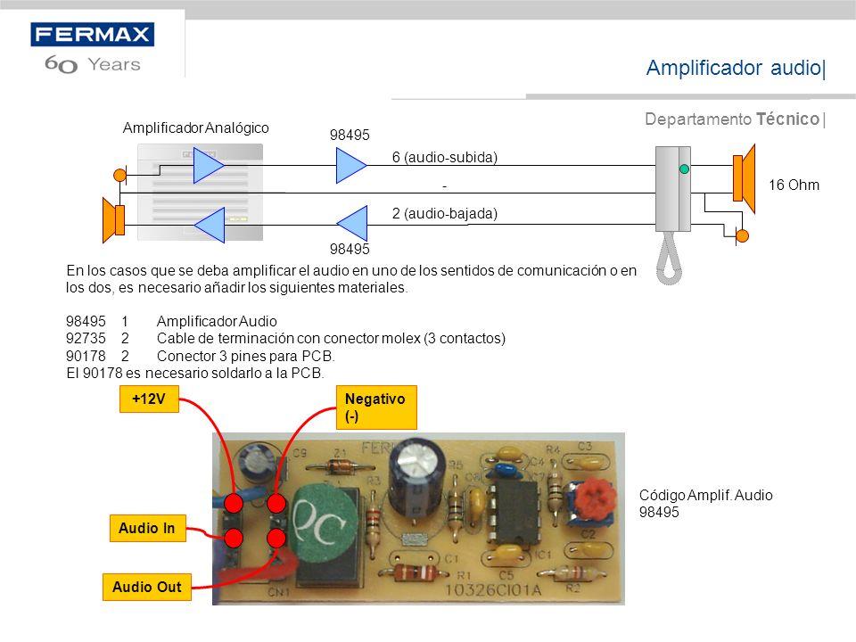 Amplificador audio| Departamento Técnico |