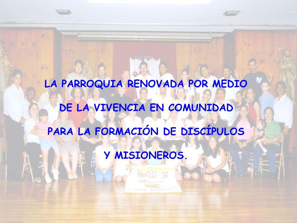 LA PARROQUIA RENOVADA POR MEDIO DE LA VIVENCIA EN COMUNIDAD