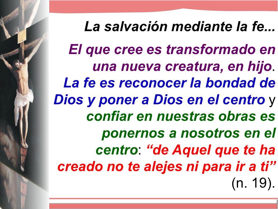 La salvación mediante la fe