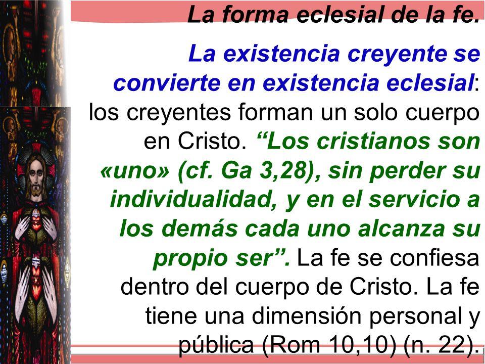 La forma eclesial de la fe