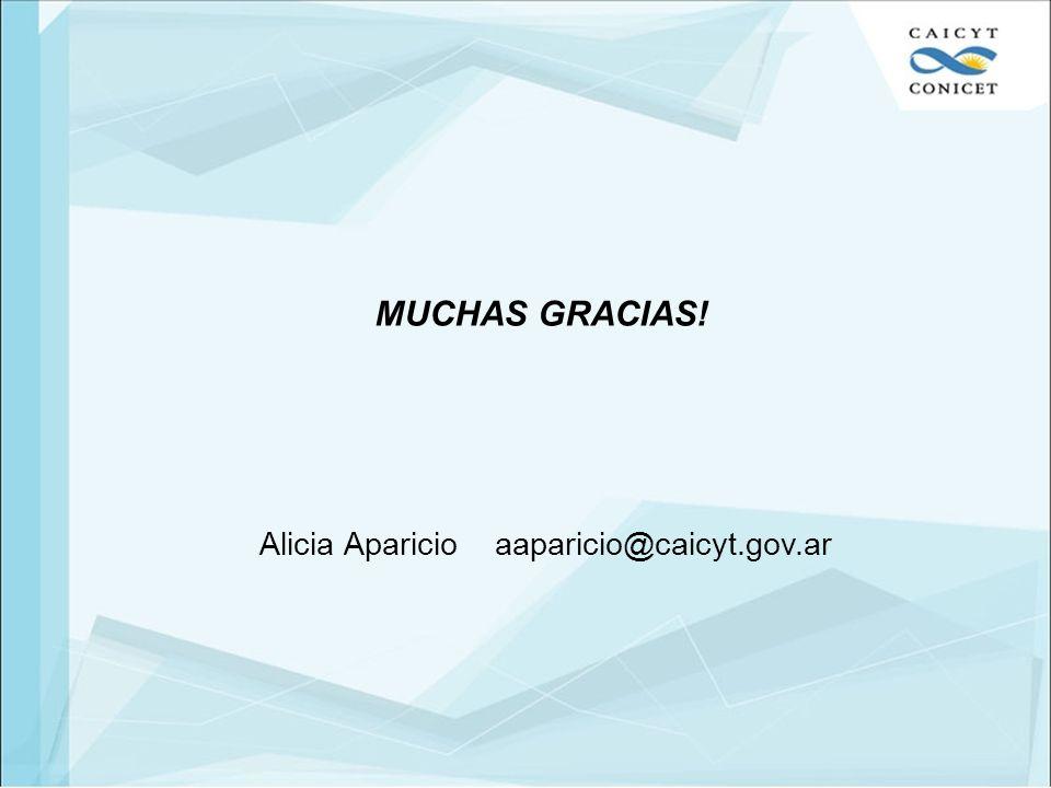 Alicia Aparicio aaparicio@caicyt.gov.ar