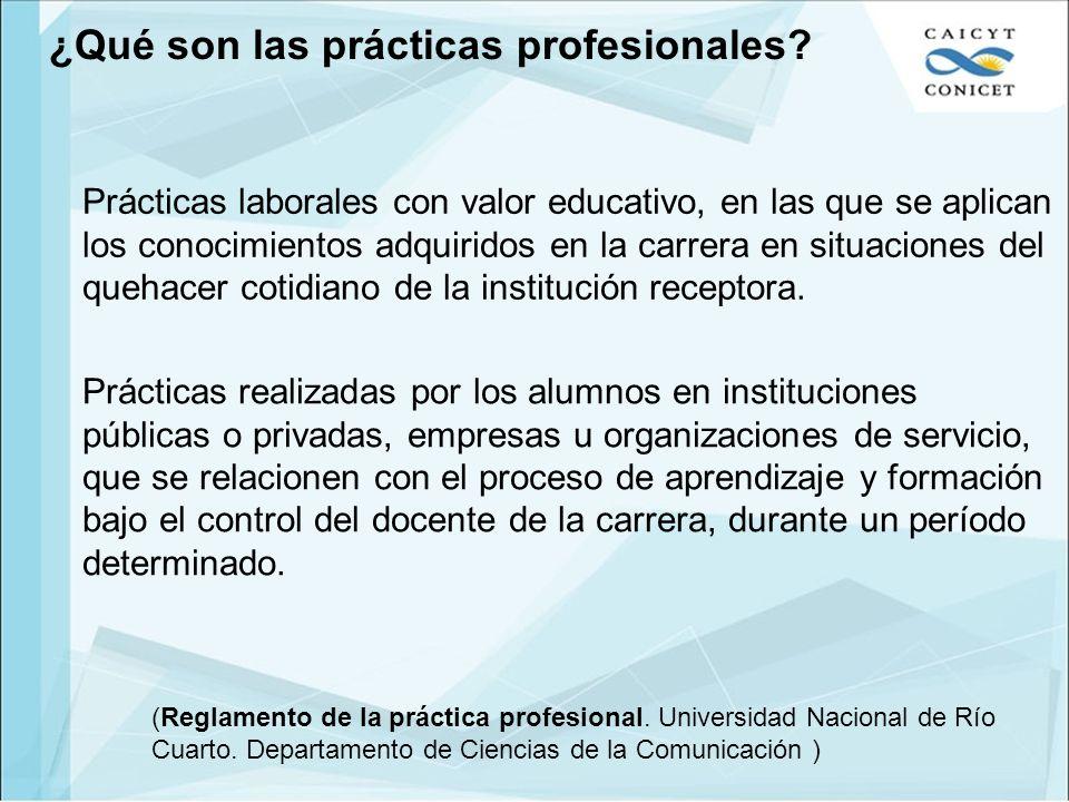 ¿Qué son las prácticas profesionales