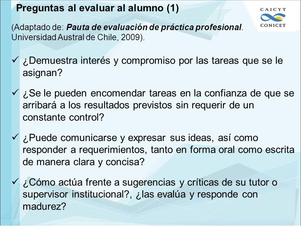Preguntas al evaluar al alumno (1)