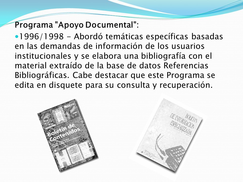Programa Apoyo Documental :