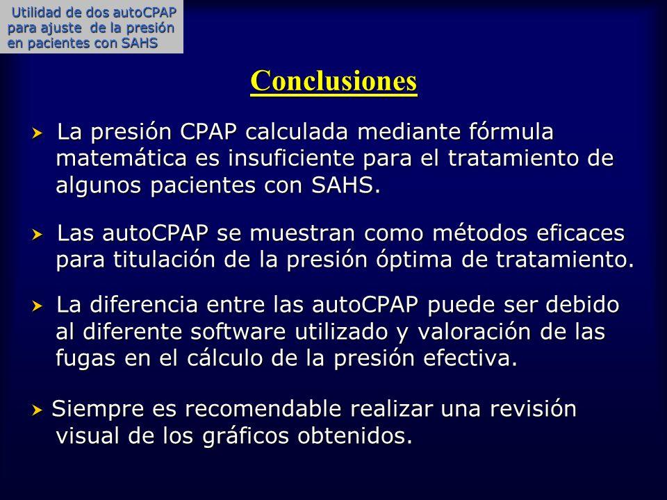 Utilidad de dos autoCPAP para ajuste de la presión en pacientes con SAHS