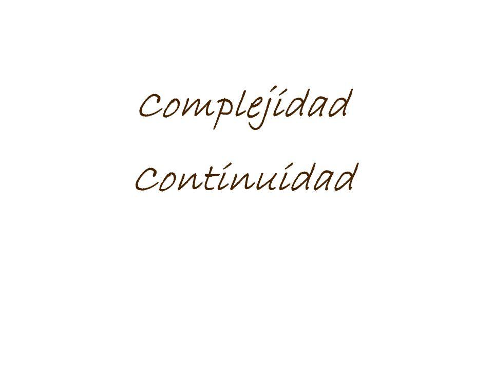 Complejidad Continuidad
