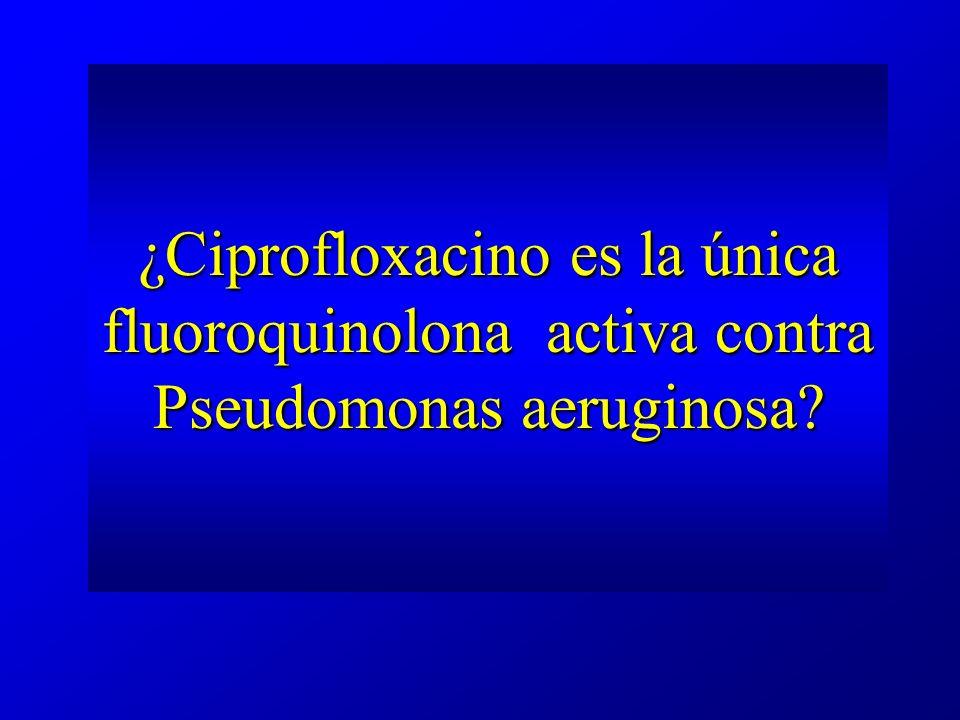 ¿Ciprofloxacino es la única fluoroquinolona activa contra Pseudomonas aeruginosa