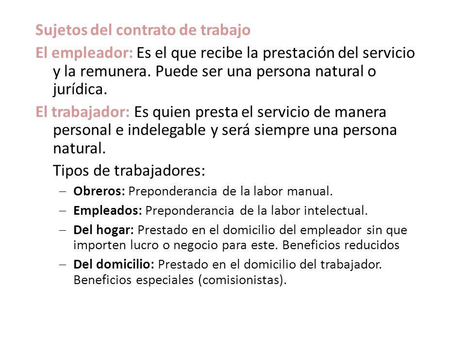 Derecho laboral dr eddie gonzales delgadillo ppt descargar for Contrato trabajo indefinido servicio hogar familiar