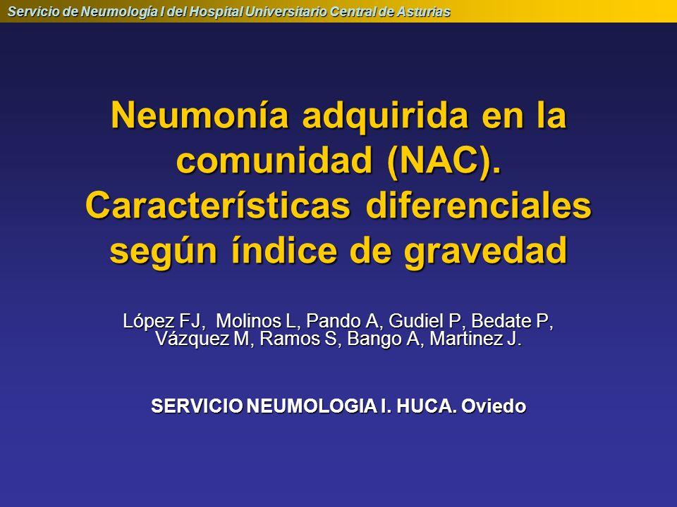 SERVICIO NEUMOLOGIA I. HUCA. Oviedo