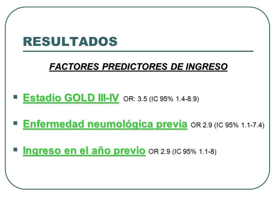 FACTORES PREDICTORES DE INGRESO