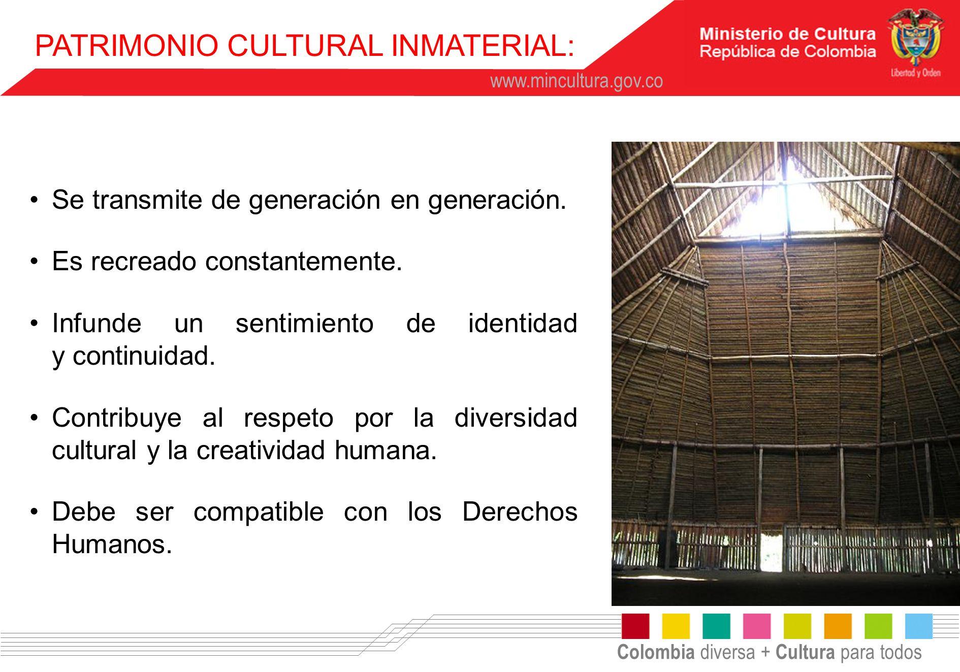 PATRIMONIO CULTURAL INMATERIAL: