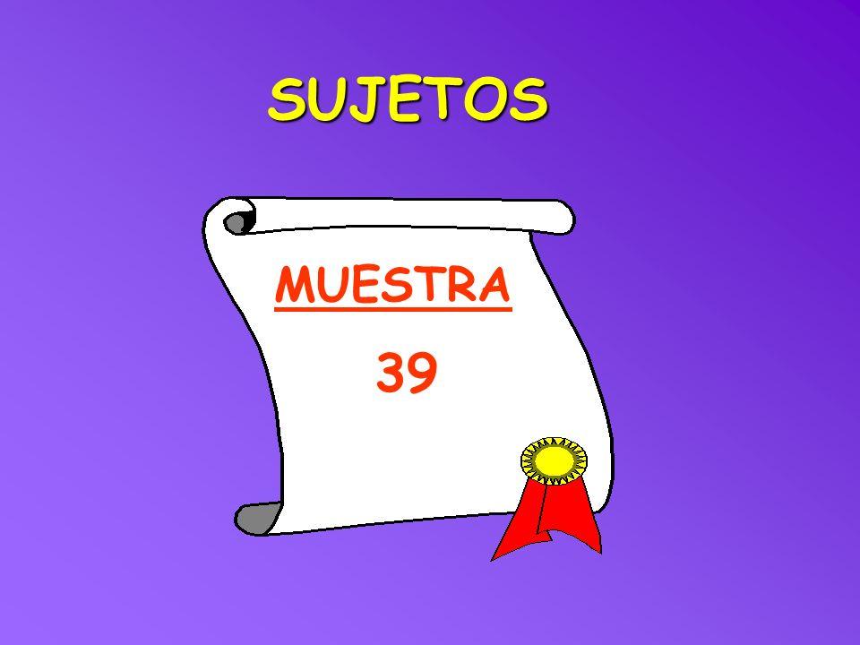 SUJETOS MUESTRA 39