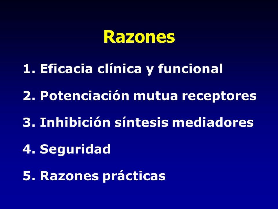 Razones 1. Eficacia clínica y funcional