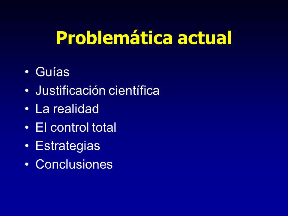 Problemática actual Guías Justificación científica La realidad