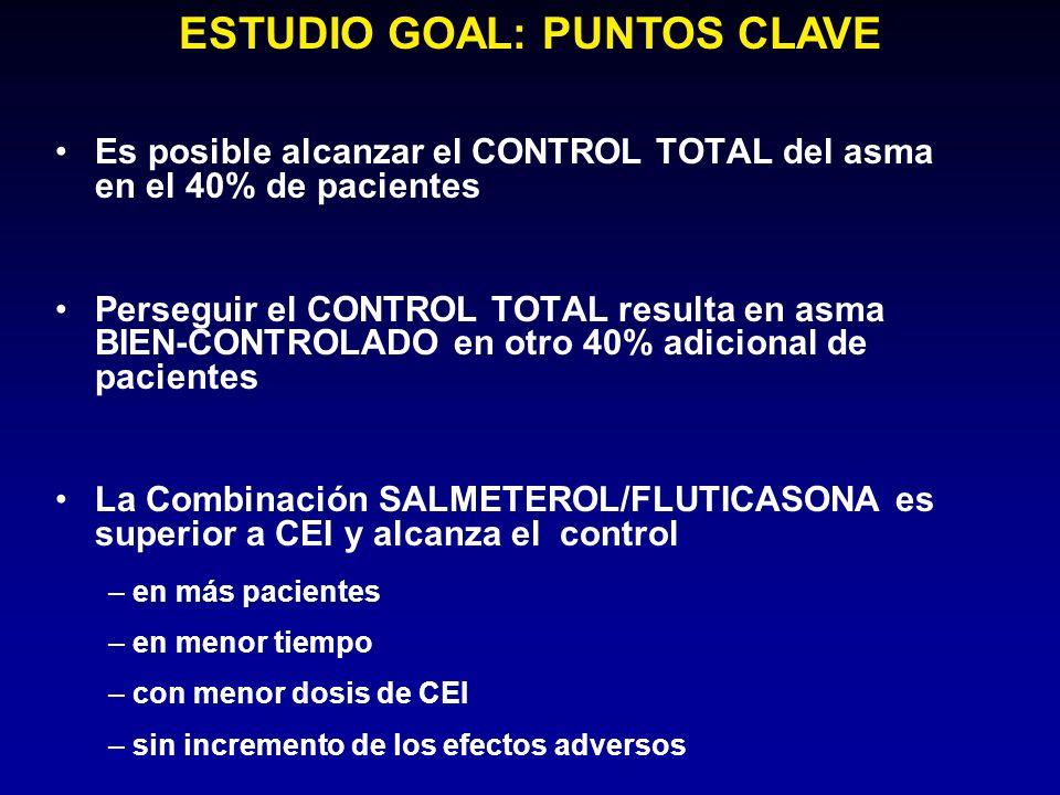 ESTUDIO GOAL: PUNTOS CLAVE