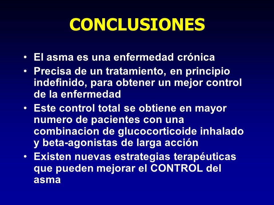 CONCLUSIONES El asma es una enfermedad crónica