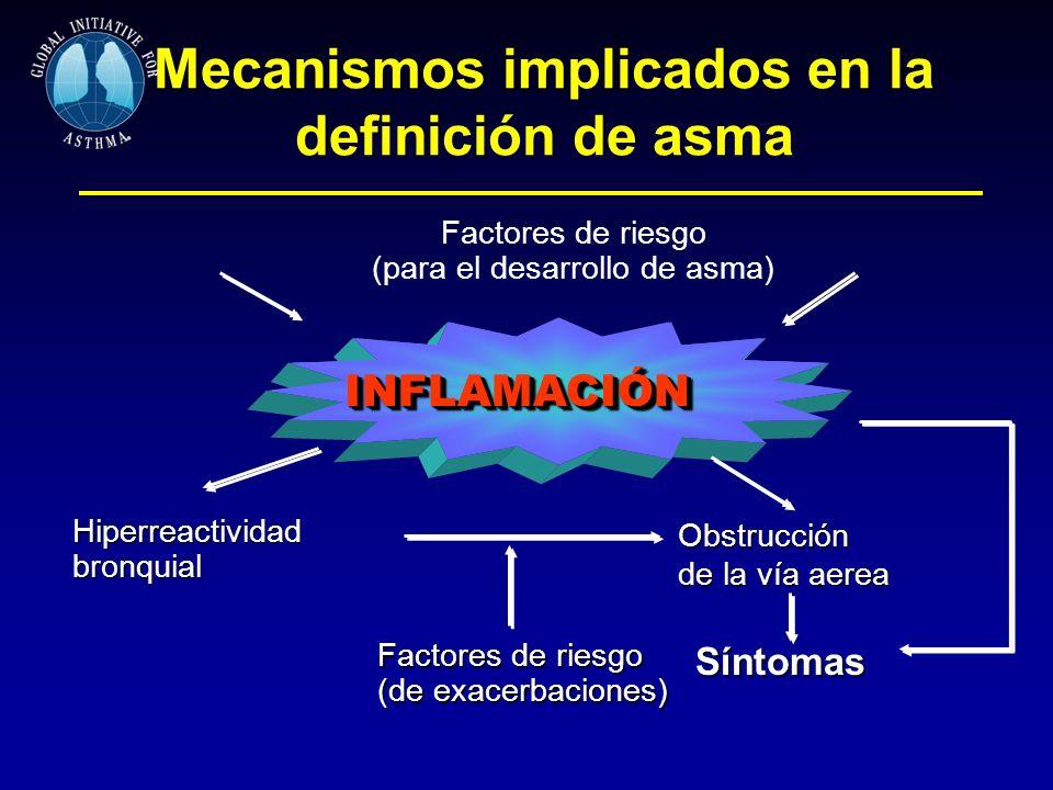 Mecanismos implicados en la definición de asma