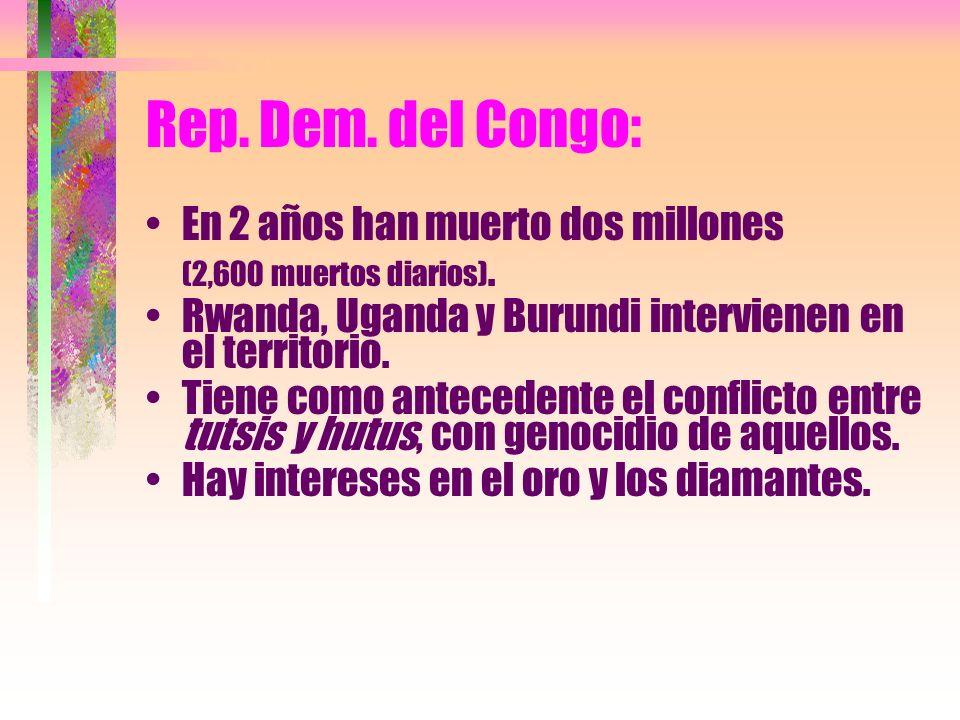 Rep. Dem. del Congo: En 2 años han muerto dos millones