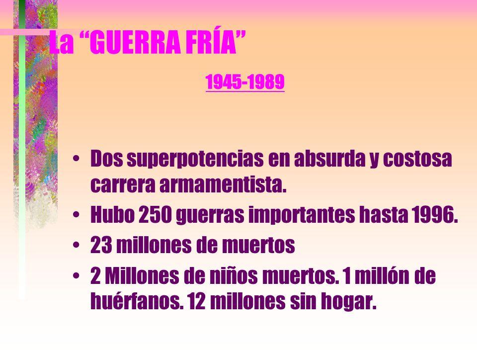 La GUERRA FRÍA 1945-1989