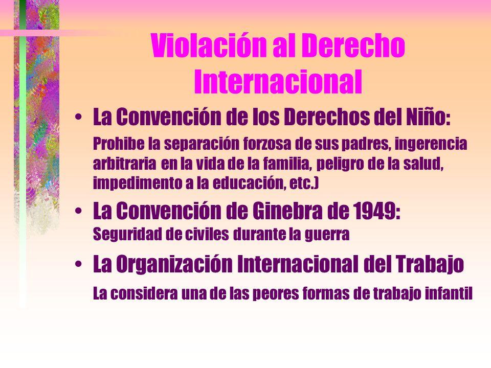 Violación al Derecho Internacional