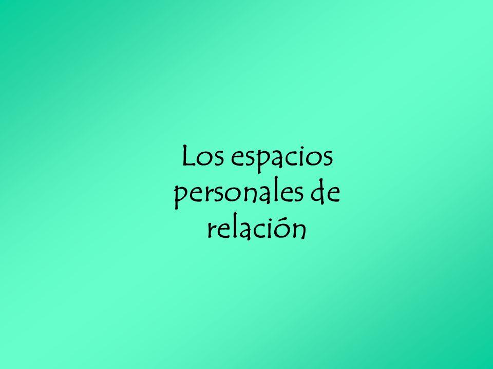 Los espacios personales de relación