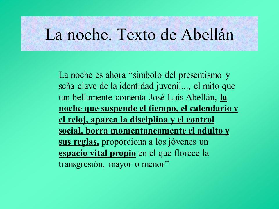 La noche. Texto de Abellán