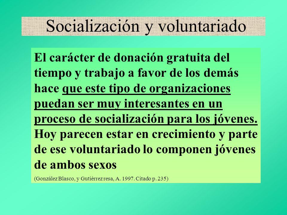 Socialización y voluntariado