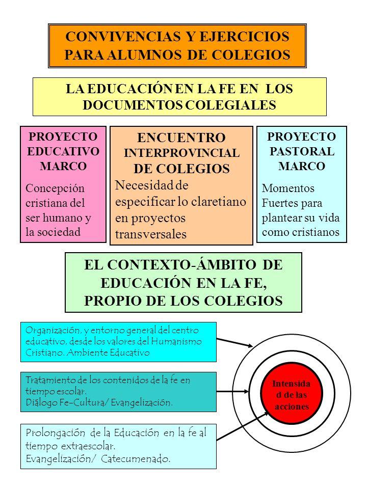 CONVIVENCIAS Y EJERCICIOS PARA ALUMNOS DE COLEGIOS