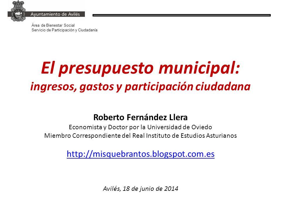 el presupuesto municipal ingresos gastos y participación ciudadana
