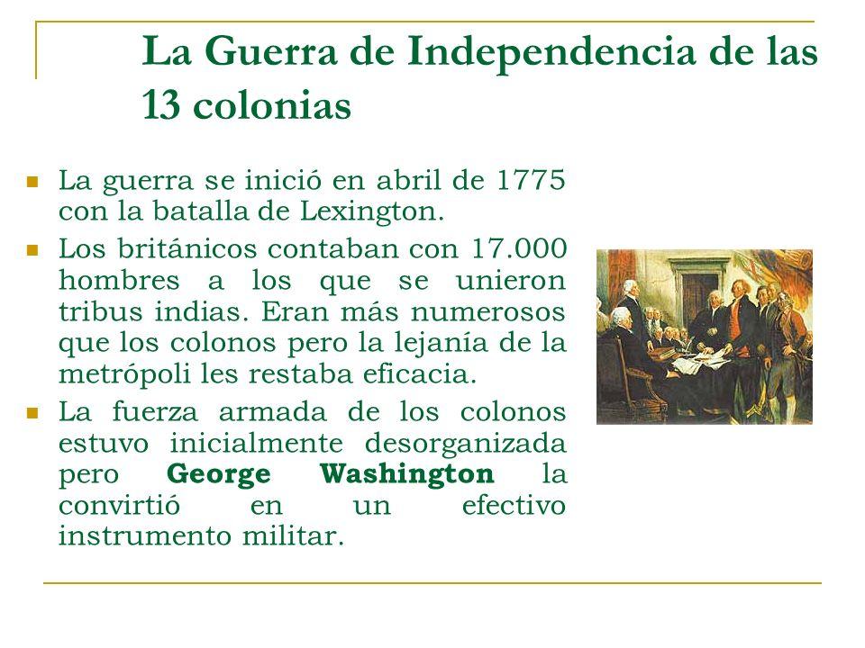 La Guerra de Independencia de las 13 colonias